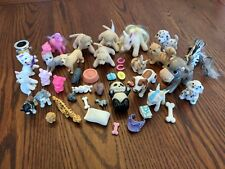 Vintage Toy Animals Lot Horses Cats Dogs Panda Cow Accessories