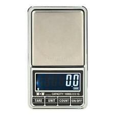 1000g*0.1g USB LCD Mini Digital Scale Jewelry Pocket Balance Carrying Pouch Z5G7