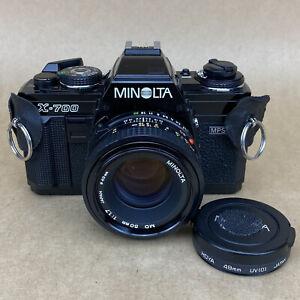 Minolta X-700 35mm SLR Film Camera W/ 50mm 1.7 - VERY CLEAN AND WORKS