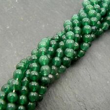 "Green Aventurine 4mm Round Beads 15"" Strand Semi Precious Gemstone"