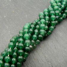 "Green Aventurine 4mm Round Beads 15"" Strand Semi Precious Gemstone"