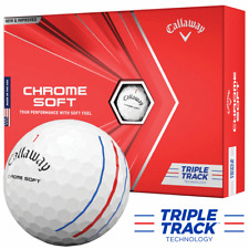 2020 Callaway Chrome Soft TRIPLE TRACK Golf Balls in White 12 ball pack