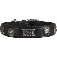 Knuffelwuff 13966-006 Lederhalsband Hund Hundehalsband Hamilton XL 46-56 Cm