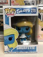 ⭐️The Smurfs- SMURFETTE #270 Funko Pop Vinyl POP ANIMATION + Pop Protector⭐