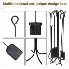 5Pcs Fireplace Iron Stove Tools Fireside Cast Iron Brush Shovel Style C