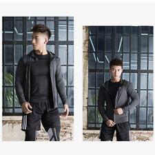 Mens Athletic Sports Shell-Suit Jacket Track-Suit Top Coat