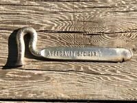 Antique Cigar Box Opener Hammer Tool—Affidavit & Don Regno Cigars—PAT'D 12-7-97