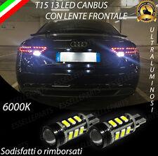 LAMPADE RETROMARCIA 13 LED T15 W16W CANBUS PER AUDI A5 6000K NO ERROR