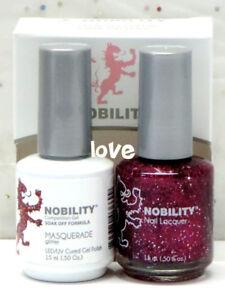 LECHAT NOBILITY LED/UV GelColor & Free Nail Polish Set NBCS130- Masquerade