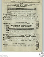 1922 PAPER AD Blue Grass Axe Axes Double Bit Michigan Western Reversible Pattern