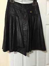 Just Cavalli Leather Skirt - Size 40