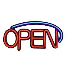 """Led Neon Rope Strip Indoor Window Display Sign- """"Open"""""""
