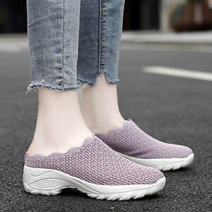 Womens Casual Shoes Breathable Slippers Comfort Slip On Sandals Outdoor Slides