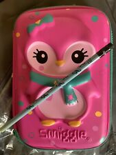 Smiggle pencil case pink penguin excellent condition I New Pencil