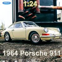 1/24 Scale Diecast Model 1964 Porsche 911 Static Vintage Car Model Collection
