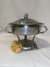 Rodney Kent Footed Hammered Aluminum Chafing Dish w/ Pyrex Bowl (1 1/2 Qt)