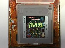 TMNT Fall of The Foot Clan Original Nintendo Gameboy Clean Tested Turtles