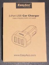 Easyacc, 3 port, phone car usb charger adaptor, new