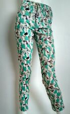 COS high waist skinny jeans size 27 --BRAND NEW-- abstract print