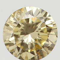 Natural Loose Diamond Orange Yellow Color Round SI1 Clarity 2.80MM 0.08 Ct L5154