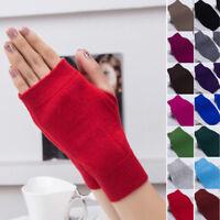 Women Girls Cashmere Fingerless Warm Winter Gloves Hand Wrist Warmer Mittens Y1