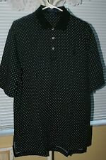 Men's Polo Ralph Lauren Golf Fit  *Rugby Polo* Short Sleeve* Black * L* EUC