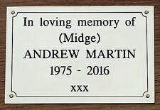 QUALITY 8 x 6 Sign Plaque Plate Memorial Deep Engraved Solid Brass
