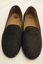 H BY HUDSON Balerno Black Snake Effect Flats Slip on Shoes Size uk 5 eu 38