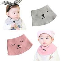 IK- Newborn Infant Soft Cotton Baby Boy Girl Cute Bibs Cartoon Bear Saliva Towel