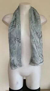 Unbranded Womens Grey Tie Dye Water Effect Lightweight Beach Summer Scarf
