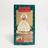 NEW IN BOX 1995 Stocking Hanger Barbie - Gold Dress Hallmark Keepsake Christmas