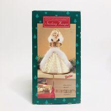NEW IN BOX 1995 Stocking Hanger Barbie - Gold Dress Hallmark Keepsake Christmas