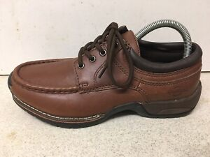 Men's NORTHWEST Contour Heel Cushion Arch Support Brown Leather Shoes UK 6