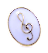 Gold and white musical note brooch, hat bag colar pin