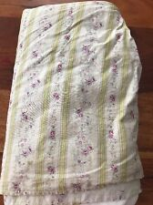 Preowned Full Size Pleated Bedskirt Floral Design Pink/Blue/Yellow (CT)