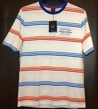Paul & Shark AUTHENTIC Men's White Striped Italy Cotton T-Shirt Shirt Sz L $210