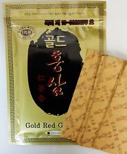 (200 Pads) Gold Red Ginseng Hot Pack Pad Patch Sheet Tape Pain Relief Korea