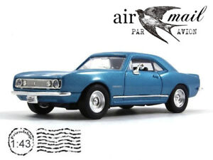 Chevrolet Camaro Z28 Blue 1/43 Scale 1967 Model Collection Diecast Car YATMING