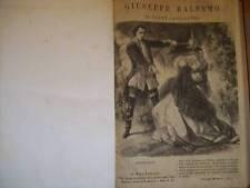 ALESSANDRO DUMAS GIUSEPPE BALSAMO O IL CONTE DI CAGLIOSTRO 1900 SONZOGNO (O22)