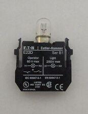 Eaton Cutler Hammer E22D 250 V Max Pilot Light Unit with Bulb