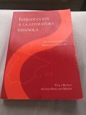 Introducción A La Literatura Española