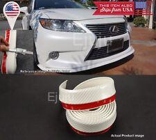 Rubber Glossy White Carbon EZ Bumper Lip Chin Trim Protector For Mazda Subaru