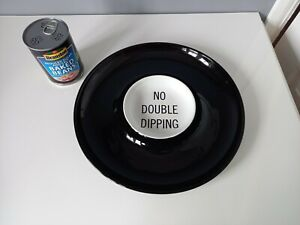 """Kenneth Cole Serving Dish - """"No Double Dipping"""" - New York Text - 30.5 cm"""