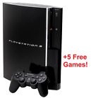 SONY PlayStation 3 PS3 Fat Console Bundle | Cords  Dualshock Controller  5 Games