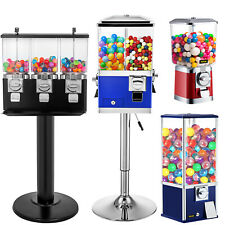 Vevor Gumball Machine Vintage Candy Vending Dispenser Coin Bank Red Blue Yellow