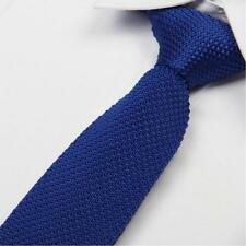 High Quality Men's Fashion Tie Knit Knitted Tie Slim Skinny Woven UK Seller