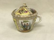 Continental Hand Painted Tea Cup With Lid