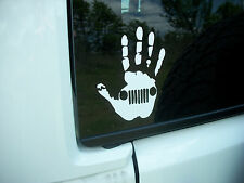 Hand Wave Jeep DECAL Mirror Fender Window Jeep Wrangler Renegade TJ YJ LJ JK
