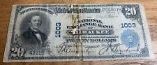 1902 $20 Bank Note National Exchange Bank of Milwaukee, Wisconsin