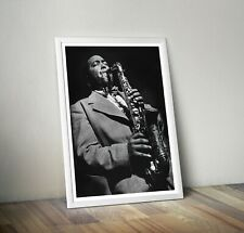 More details for charlie parker reproduction photograph poster wall art print jazz bird be-bop